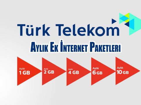 Türk Telekom Faturalı Ek İnternet Paketleri